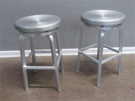 2 Aluminum Stools