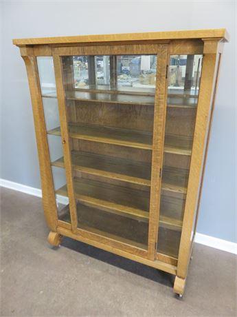 Vintage Oak Display Cabinet