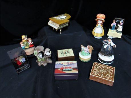 11 Piece Music Box Lot