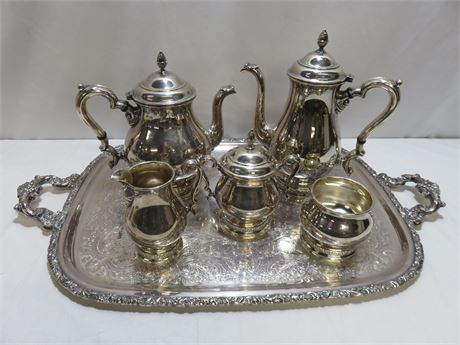 "INTERNATIONAL STERLING ""Prelude"" Coffee/Tea Serving Set"