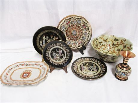 LOT OF DECORATIVES FROM AROUND THE WORLD FEATURING GREECE AND CHINA