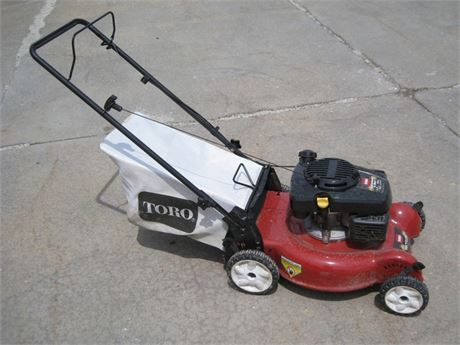 TORO RECYCLER PUSH MOWER WITH BAG