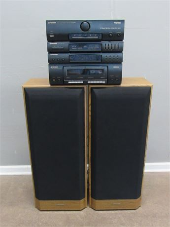 Pioneer Stack Stereo System with 2 Floor Speakers
