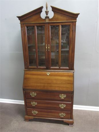 Jasper Cabinet Co. Chippendale Style Drop Front Secretary Desk with Hutch