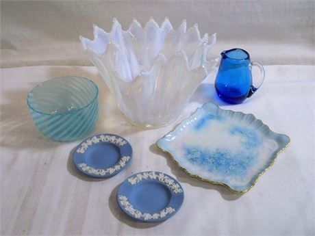 6 PIECE MISC. CHINA/GLASS LOT