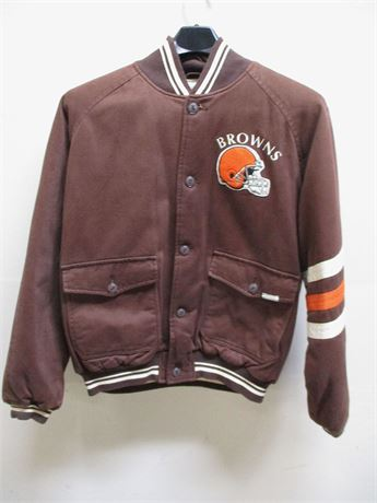 VINTAGE SIZE XL CLEVELAND BROWNS JACKET