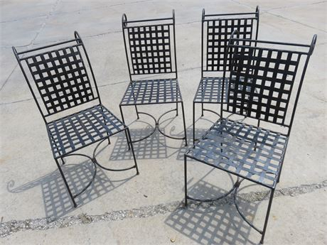 Wrought Iron Patio Chair Set