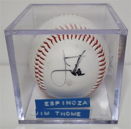 Jim Thome and Alvaro Espinoza Signed Baseball