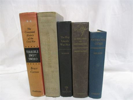 LOT OF VINTAGE BOOKS ABOUT THE CIVIL WAR