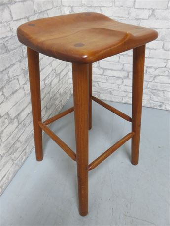 Solid Wood Saddle Stool