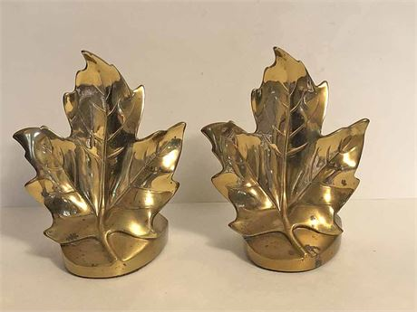Mid Century PMC Maple Leaf Bookends