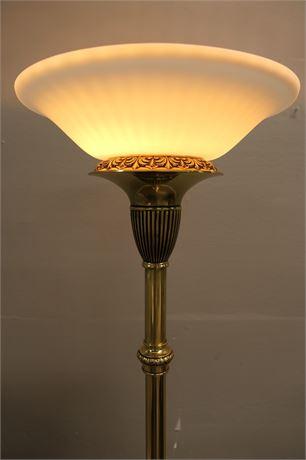Brass Dimmer Torchiere floor lamp
