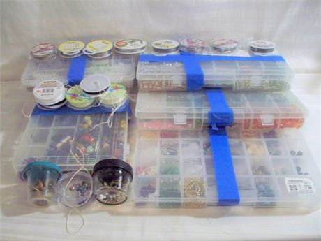 HUGE LOT OF JEWELRY/CRAFTS SUPPLIES