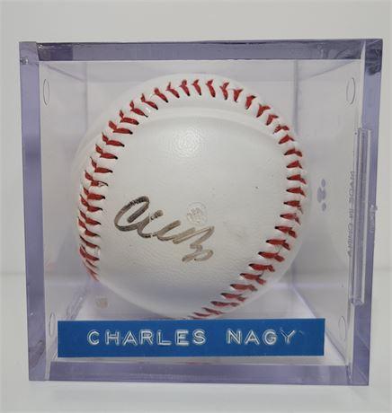 Cleveland Indians Starting Pitcher Charles Nagy Signed Baseball