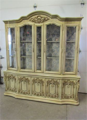 Custom-Crafted Ecker-Shane Furniture French Provincial China Hutch