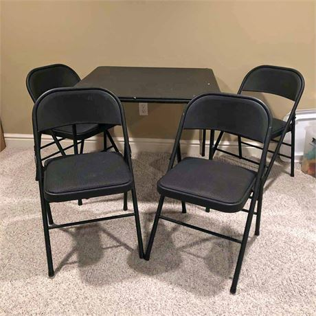 Folding Card Table & Chairs