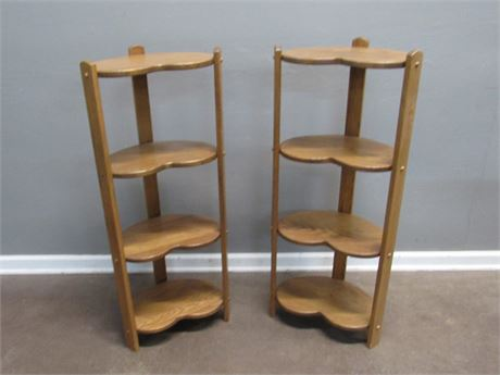 2 - 4-Tier Kidney Shaped Stands