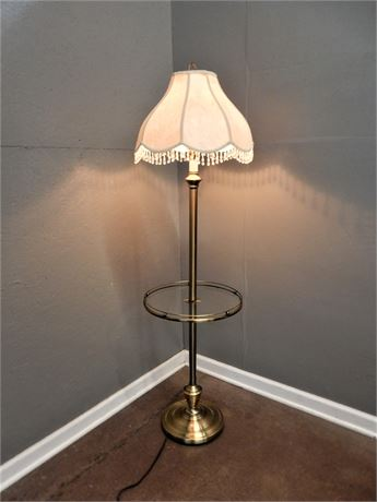 Vintage Brushed Brass Look Lamp Table