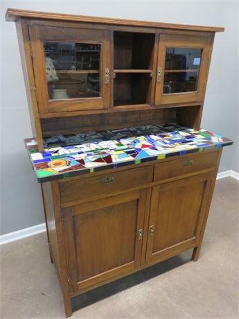 ARHAUS Mosaic Top Buffet Hutch