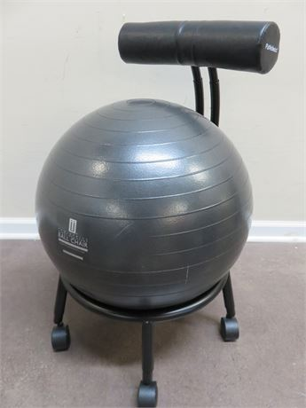 PurAthletics Pro Series Black ZenZu Ball Chair