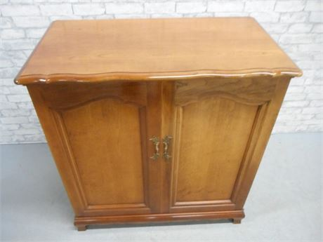 GREAT LOOKING VINTAGE STEREO CABINET - THE FISCHER - WITH BSR TURNTABLE
