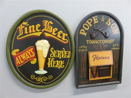 Wooden Bar Signs