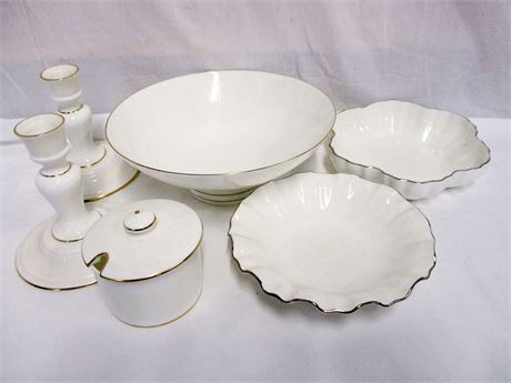 "LOT OF MINTON ""WHITE PAISLEY"" CHINA"