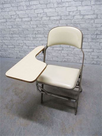 VINTAGE FOLDING CHAIR WITH ATTACHED DESK