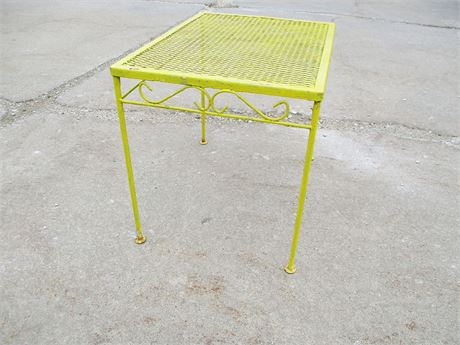 VINTAGE WROUGHT IRON SIDE TABLE