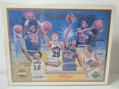 1993 Upper Deck Cleveland Cavaliers Framed Artwork Serial Numbered