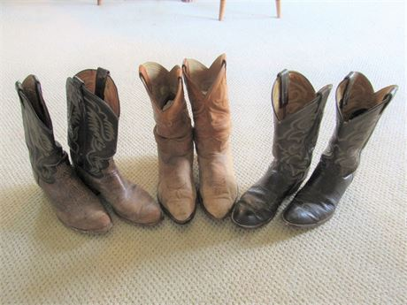 3 Vintage Pairs of Western Boots