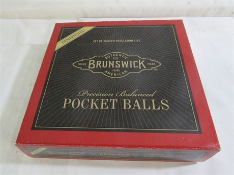 Brunswick Centennial Pocket Billiard Balls - NFL Steeler's vs. Browns with Box