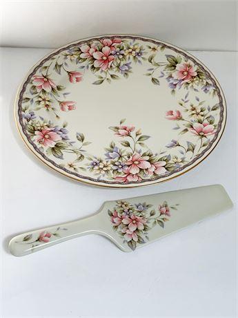 Andrea by Sadek Porcelain Cake Plate and Server