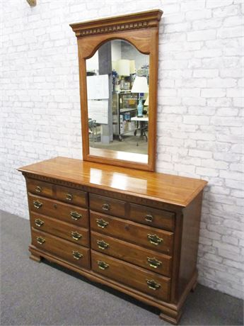 KINCAID 6-DRAWER DRESSER WITH MIRROR