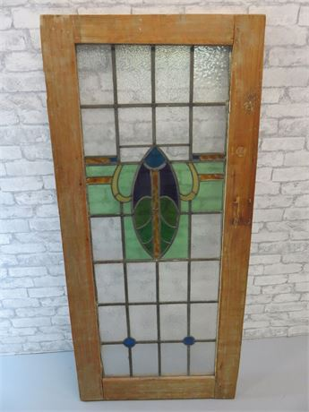 Small Stained Glass Panel Door