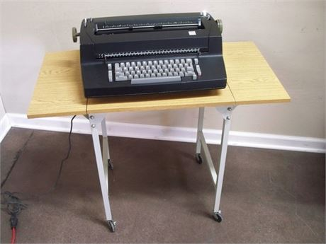 VINTAGE IBM CORRECTING SELECTRIC II ELECTRIC TYPEWRITER WITH CART