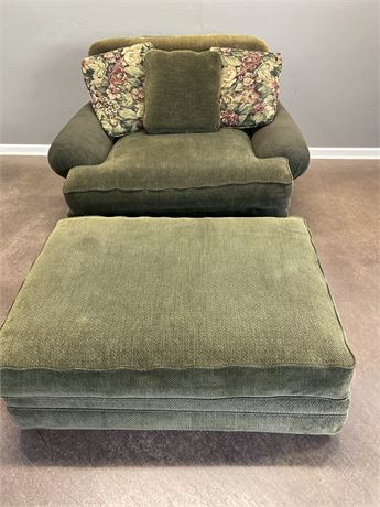 Norwalk Chair 1/2 and Ottoman
