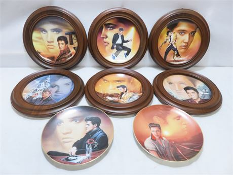 ELVIS PRESLEY Limited Edition 8-piece Collector Plate Set