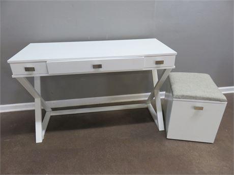 Computer Desk & Filing Drawer Bench