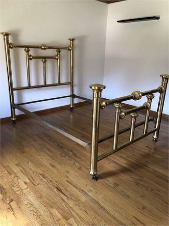 Original Antique Nat'l Brass Co. Brass Bed