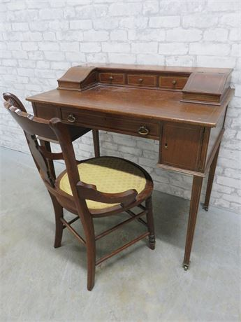 Antique Writing Desk & Chair