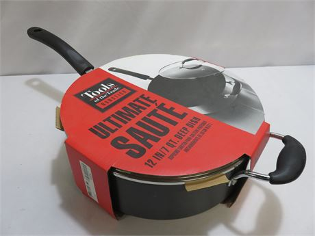 TOOLS OF THE TRADE Hard Anodized 7 Qt. Covered Ultimate Saute Pan