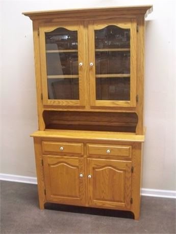 GREAT LOOKING 2 PIECE CHINA HUTCH