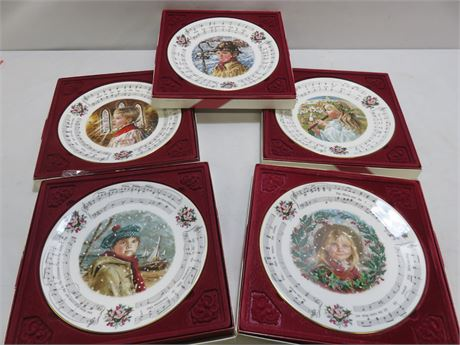 1984-88 ROYAL DOULTON Christmas Carols Collector Plates