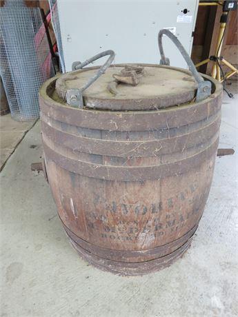 Antique Favorite McDermaid Oak Barrel Butter Churn
