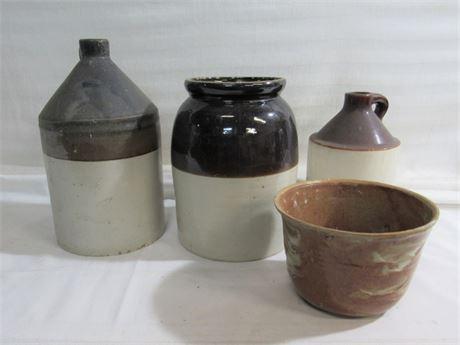 4 Piece Vintage Pottery/Stoneware Lot
