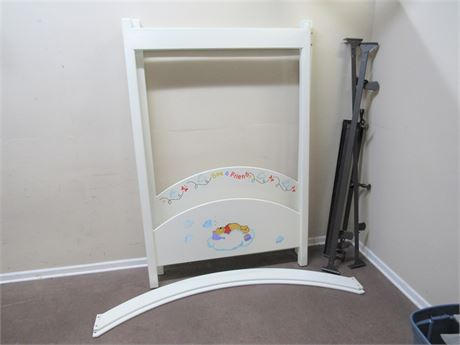 STENCILED WINNIE THE POOH FULL SIZE CANOPY BED