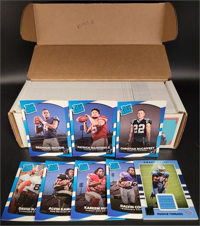 PATRICK MAHOMES RATED ROOKIE & 2017 DONRUSS NFL COMPLETE FACTORY SET