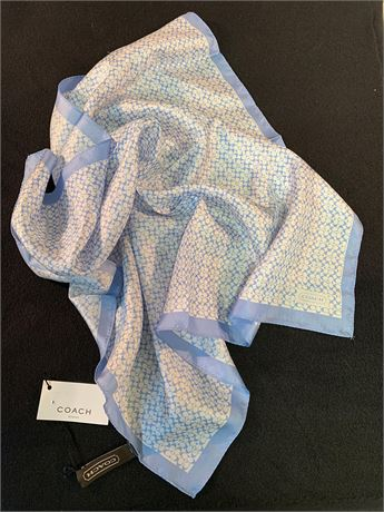Coach Blue and White Scarf