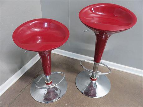 Contemporary Pedestal Bar Stools